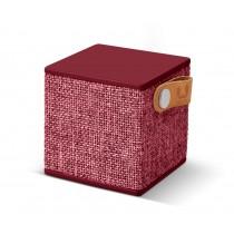 FRESH ´N REBEL Rockbox Cube Fabriq Edition Bluetooth reproduktor - rubínovo červený