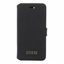 Guess Saffiano otvárací obal pre iPhone 7 - čierny