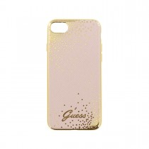 Guess Dots puzdro pre iPhone 7 - ružovo zlaté