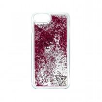Guess Liquid Glitter puzdro pre iPhone 7 Plus/6s Plus/6 Plus - červené