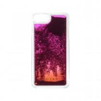 Guess Liquid Glitter puzdro pre iPhone 7 Plus/6s Plus/6 Plus - fialové