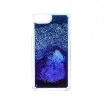 Guess Liquid Glitter puzdro pre iPhone 7 Plus/6s Plus/6 Plus - modré