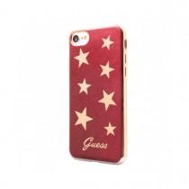 Guess Stars mäkké puzdro pre iPhone 7 - červené