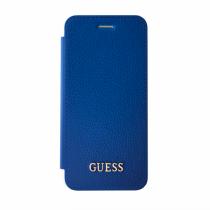Guess IriDescent Book puzdro pre iPhone 7/6s/6 - modré