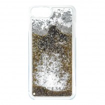 Guess Liquid Glitter puzdro pre iPhone 7 Plus/6s Plus/6 Plus - zlaté