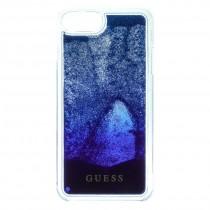 Guess Liquid Glitter puzdro pre iPhone 7/6s/6 - modré