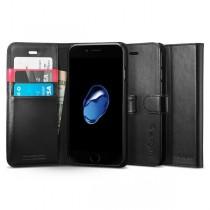 Spigen Wallet S puzdro pre iPhone 7, čierne