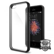Spigen Ultra Hybrid, tenký kryt pre iPhone 5s / SE - čierny