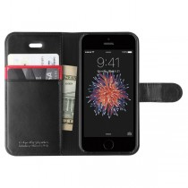 Spigen Wallet S, black - iPhone SE/5s/5 [041cs20191]