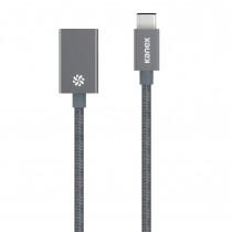 KANEX USB-C a USB Female Adaptér 20 cm - Space gray
