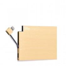 PlusUs LifeCard záložná batéria 1,500 mAh - 20k zlatá