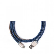 PlusUs LifeStar nabíjací a synchronizačný kábel (25cm) USB - Lightning - modrý
