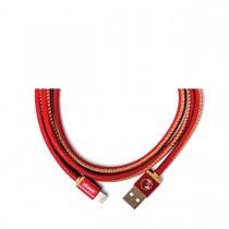PlusUs LifeStar nabíjací a synchronizačný kábel (25cm) USB - Lightning - červený