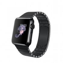 Apple Watch - 38mm puzdro z kozmicky čiernej nerezovej ocele s kozmicky čiernym článkovým remienkom