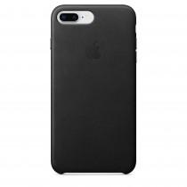 Apple - iPhone 8 Plus / 7 Plus kožený kryt - čierny