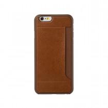 Ozaki O!Coat-0.3 Pocket kožený obal pre iPhone 6 - hnedý