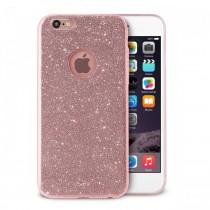 PURO Glitter silikónové puzdro pre iPhone 6s/6 - ružovo zlaté