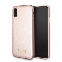 Guess Iridescent kryt pre iPhone X - ružovo zlatý