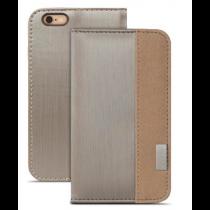 Moshi Overture peňaženkové puzdro pre iPhone 6 - strieborné