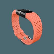 Fitbit Charge 2 náhradný športový remienok koralový - veľkosť L
