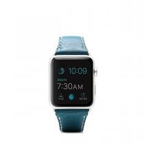 SLG Design - D6 kožený náramok pre Apple Watch 42mm - modrý