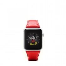 SLG Design - D6 kožený náramok pre Apple Watch 38 mm - červený