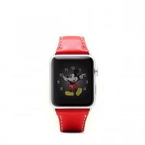 SLG Design - D6 kožený náramok pre Apple Watch 42mm - červený