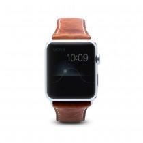 SLG D7 Wax remienok pre Apple Watch 42 mm - hnedý