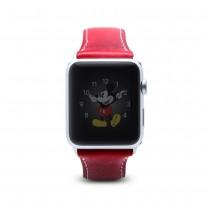 SLG D7 Wax remienok pre Apple Watch 42 mm - červený