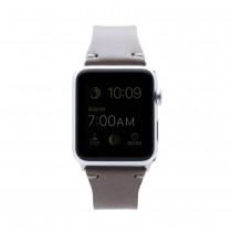 SLG Design - D7 kožený náramok pre Apple Watch 38 mm - béžový