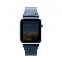 SLG Design - D7 kožený náramok pre Apple Watch 38 mm - modrý