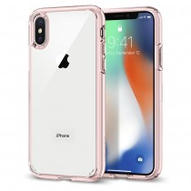 Spigen Ultra Hybrid, rose crystal - iPhone X
