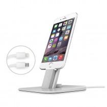 TwelveSouth HiRise Deluxe dokovací stojan pre iPhone/iPad - strieborný