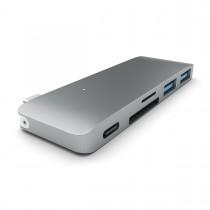 SATECHI USB-C PASS HUB s piatimi výstupmi  - kozmicko sivý