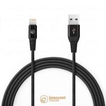 UltraStrong Mfi Certifikovaný 1,5m Lightning a USB kábel - čierny