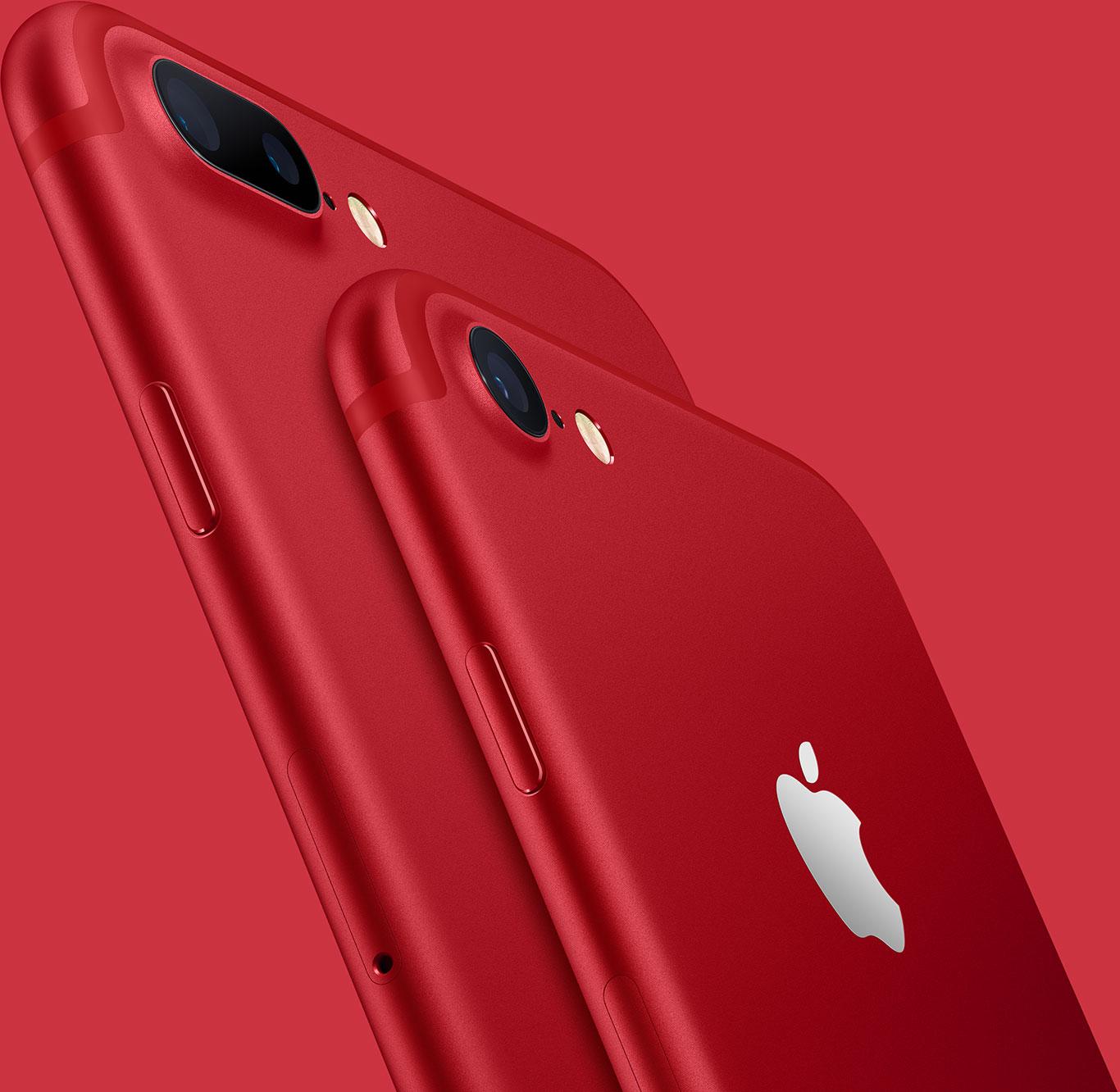 červený iPhone 7